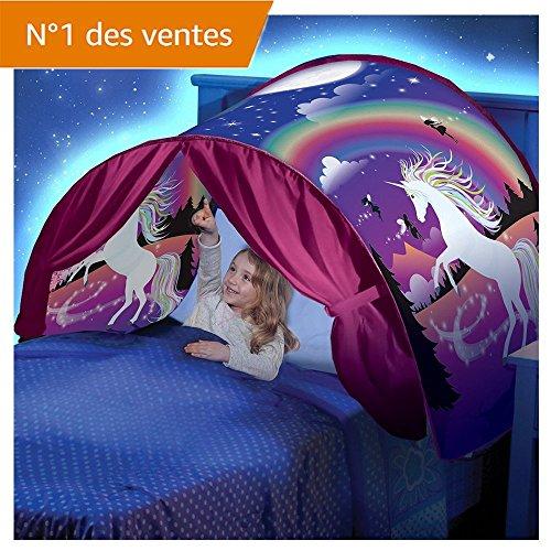 Kangrunmys_ Tente De Lit Enfant Garcon Fille Princesse Tunne Lit RêVe Jouer Pop Up Ciels Lit Playhouse Interieur Tent Cadeau Moustiquaires Ciels de Lit (A)