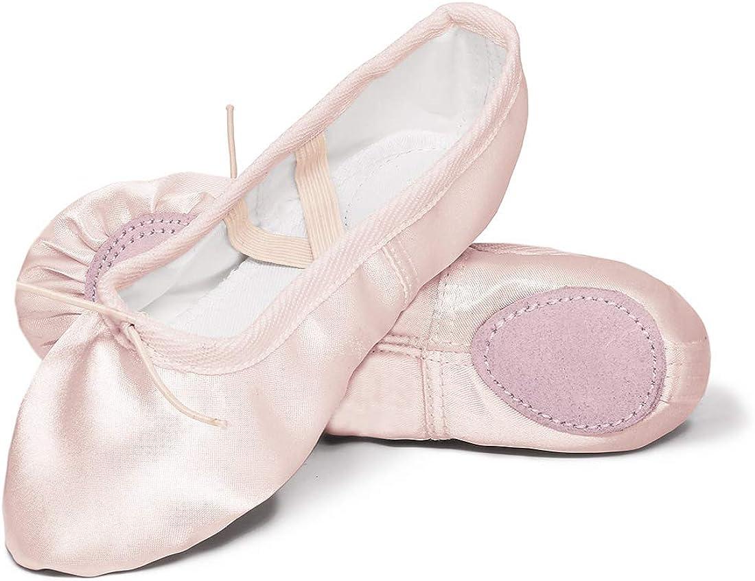 Ballettschuhe M/ädchen Tanzschuhe Kinder Bequem Spitzenschuhe Mit Band Rosa