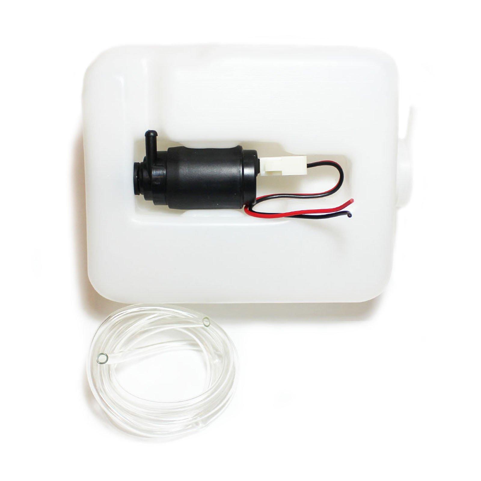 Kit universal y económico de bomba de limpiaparabrisas de 12 V y contenedor de agua de 1,2 l. De ACP: Amazon.es: Coche y moto