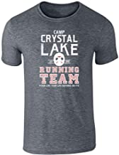 Pop Threads Camp Crystal Lake Running Team Horror Costume Dark Heather Gray L Graphic Tee T-Shirt for Men