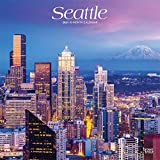 Seattle 2021 12 x 12 Inch Monthly Square Wall Calendar, USA United States of America Washington Pacific West Coast City