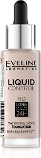 Eveline Liquid Control Foundation With Dropper ,005 Ivory 32 ml