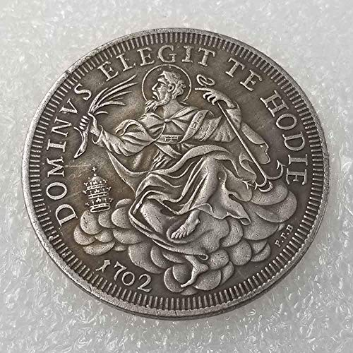 DDTing Best Italy US Münze – Italien Old Lira Gedenkmünze – 1702 Italienische Lira Alte Münze zum Sammeln – US Dollar Italien Old Original Pre Morgan Dollar GoodService