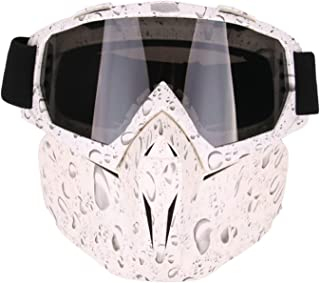 Aooaz Motorcycle Goggles Riding Detachable Face Mask Shield Goggles Outdoor Accessories