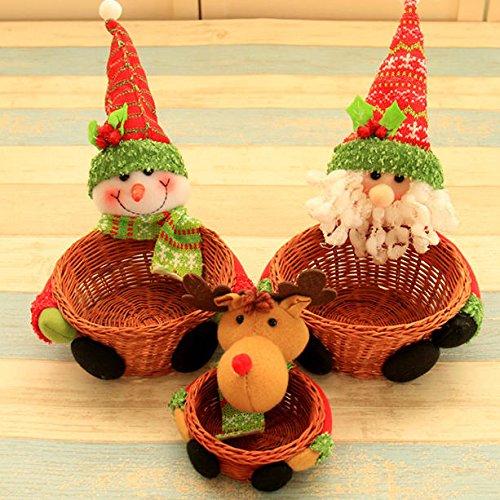 Navidad 2017 caramelo azúcar organizador cesta caja de almacenamiento contenedores caja mesa escritorio decoración Navidad