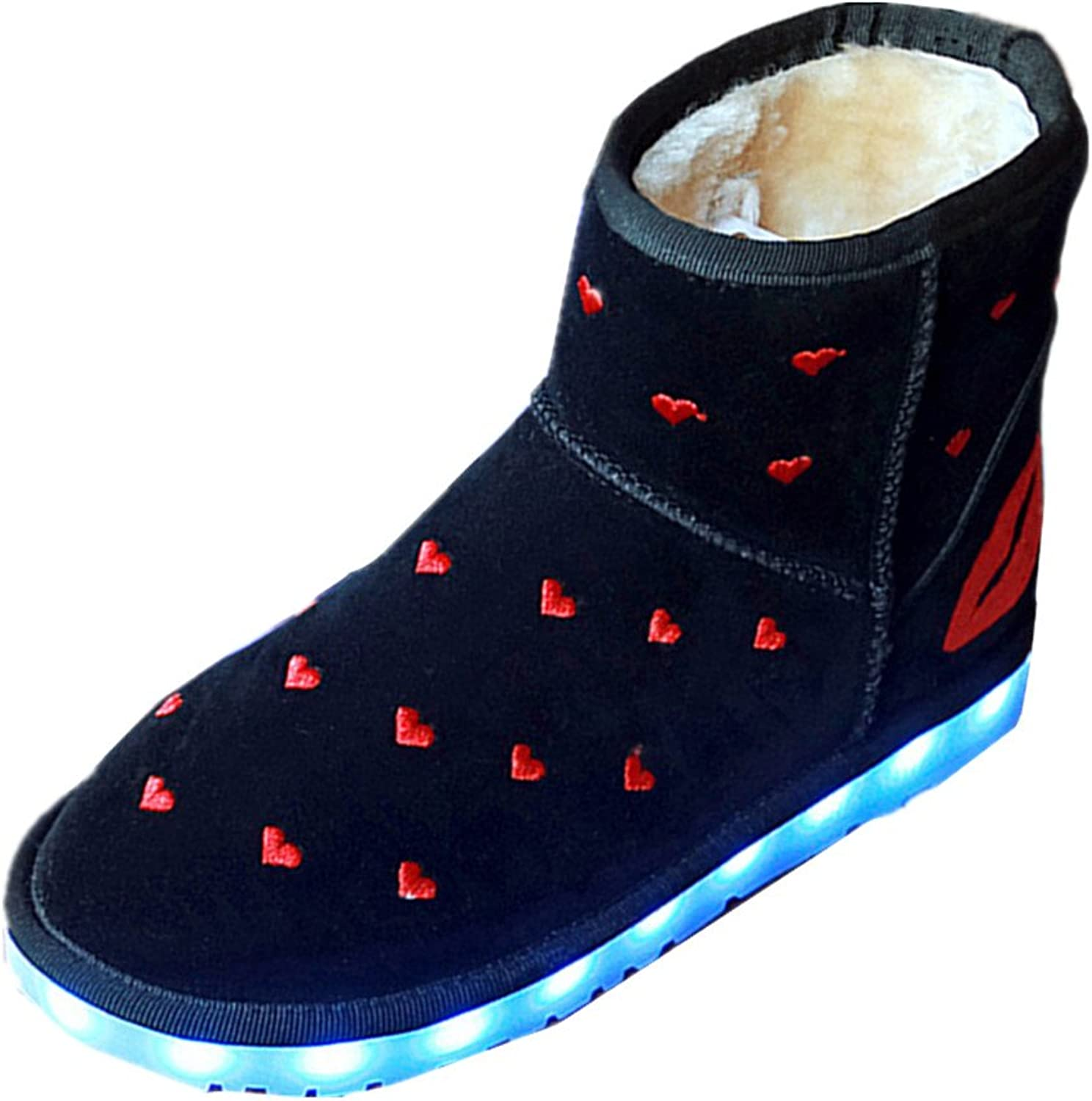 Xiaoyang Winter Snow Boots USB Charge Keep Warm Women Boots Fashion Plush LED Luminous Boots