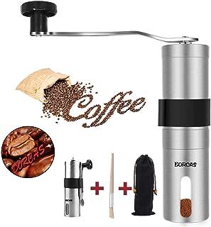 Dorcas Manual Coffee Grinder with Adjustable Ceramic Burr,Portable Burr Coffee Grinder for Aeropress, Drip Coffee, Espresso, French Press, Turkish Brew