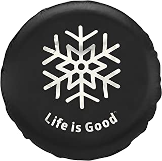 Life is Good Adult Snowflake Tire Cover