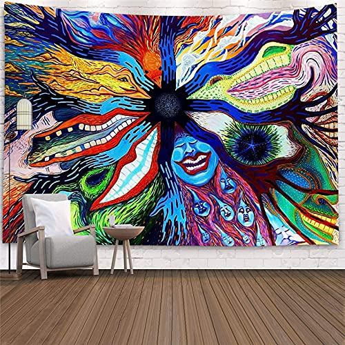 Bohemian hippie tapestry wall hanging psychedelic bohemian decorative wall tapestry mandala wall cloth tapestry A4 150x200cm