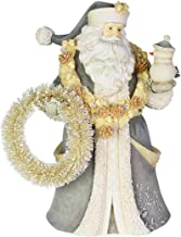 """Enesco Heart of Christmas Santa in The Meadow, 6003908, Stone Powder, Multicolor, 8.19"""""""