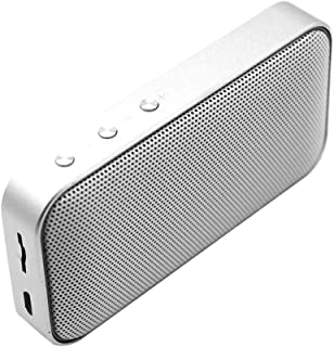 D DOLITY Portable Bluetooth V4.2 Speakers with Premium Stereo Sound - Dust Proof, Charging Voltage DC 5V - Silver