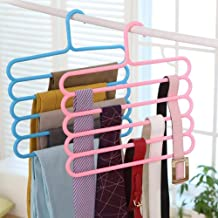 Kuber Industries 2 Pieces Multi-Purpose 5 Layer Pants Clothes Hanger Wardrobe Storage Organizer (Multicolour) - CTKTC23479