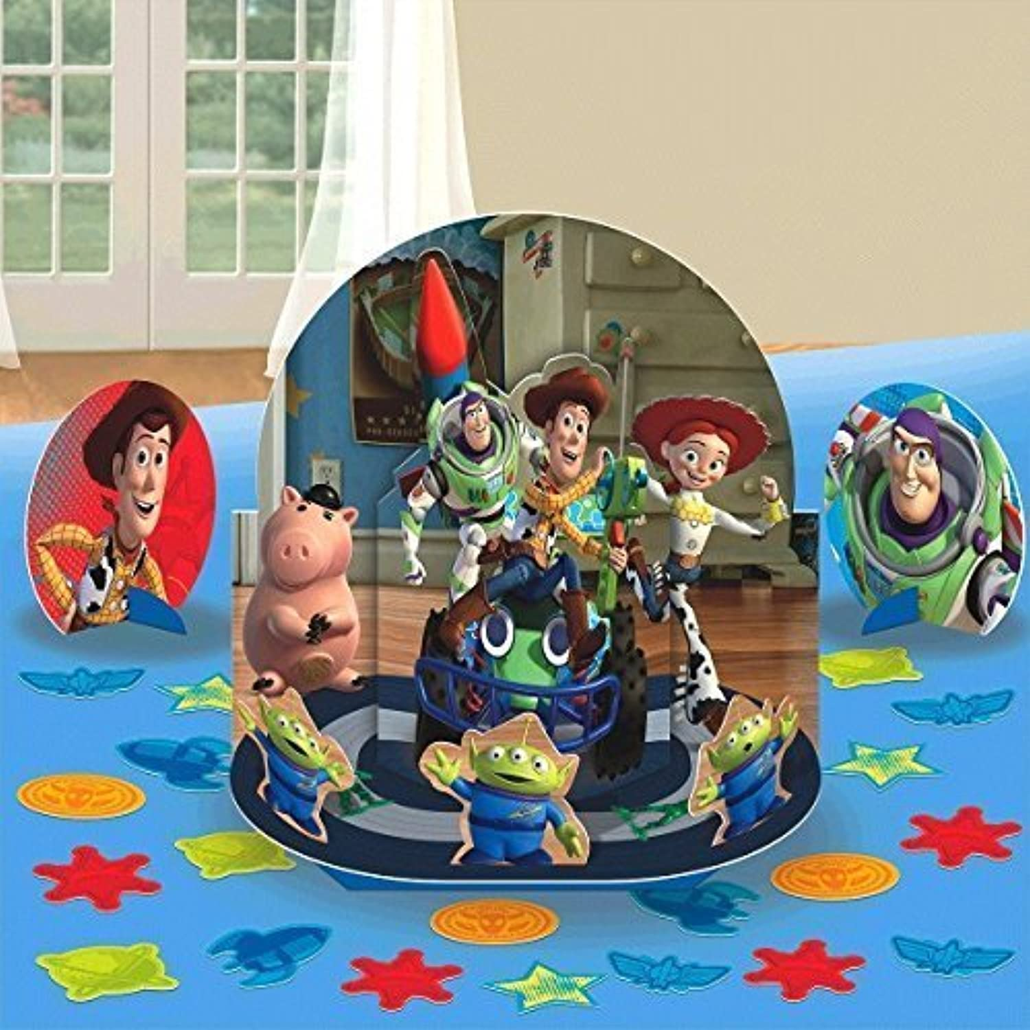 New Disney Toy Story Party Table Decorations Kit ( Centerpiece Kit ) 23 PCS  Kids Birthday and Party Supplies Decoration by Disney