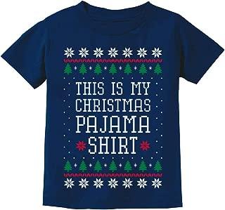 This is My Christmas Pajama Shirt PJs Ugly Christmas Youth Kids T-Shirt