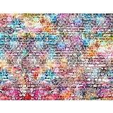 Fototapete Ziegelmauer 3D Bunt Vlies Wand Tapete Wohnzimmer Schlafzimmer Büro Flur Dekoration Wandbilder XXL Moderne Wanddeko 100% MADE IN GERMANY Runa Tapeten 9020010b