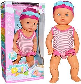 ¡Mira que puedo nadar Swimmingr Baby Swim Doll - Muñeca de 9.8 pulgadas para bañera/ducha/piscina Tiempo de juego - Niños Best Friends Toy Baby Dolls In Summer Pool