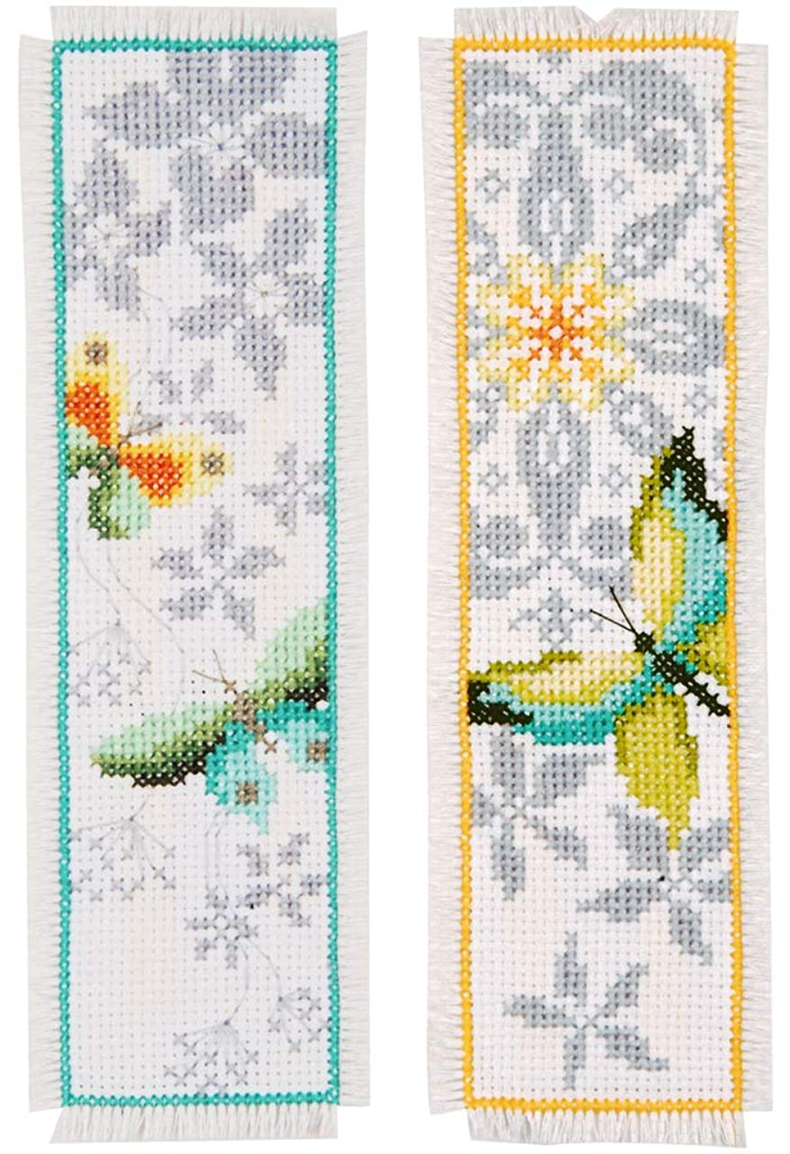Vervaco Butterfly Bookmarks, Set of 2