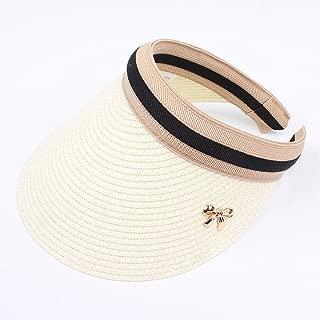 Sun Hats Hand Made DIY Straw Bowknot Visor Caps Parent-Child Summer Cap Casual Shade Hat Empty Top Hat Beach