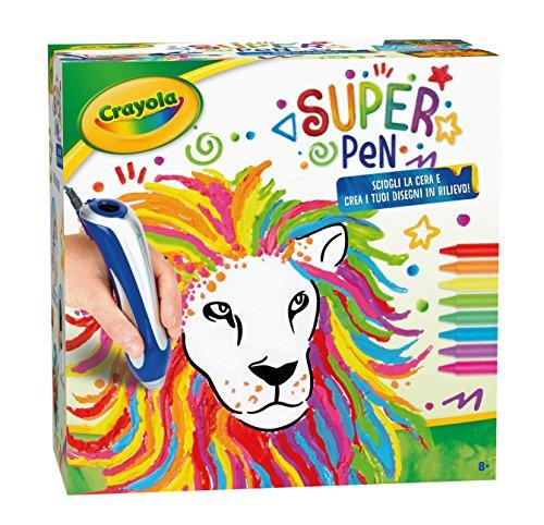 CRAYOLA- Super Pen Sciogliere i Pastelli a Cera e Creare Disegni in Rilievo, Multicolore, 14 unità (Confezione da 1), 25-0384