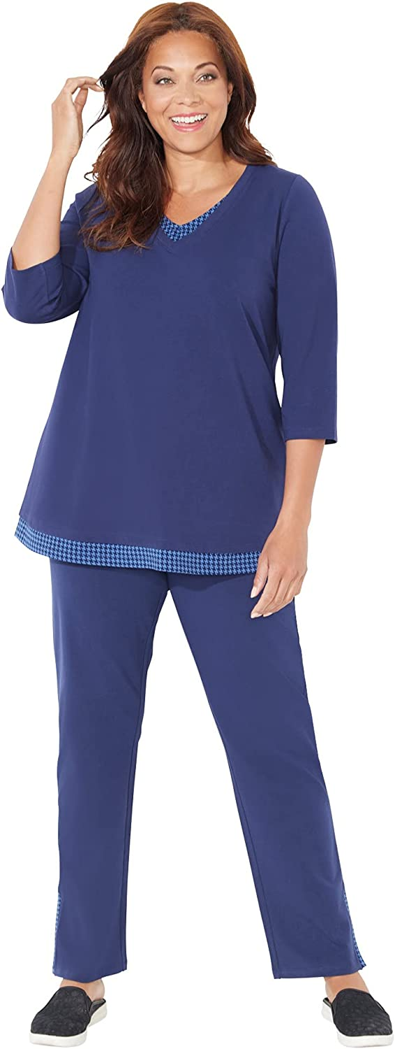 Catherines Women's Plus Size Suprema Top and Pant Set