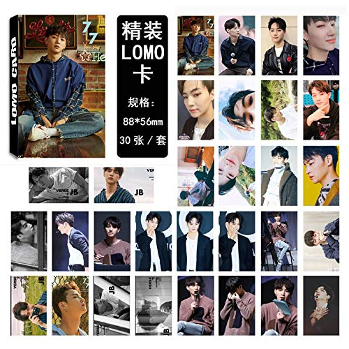 30pcs/Set K-pop GOT7 photocard JB Single 04 Fashion GOT7 Album Photo Card Stationery Set New Arrivals Promotion