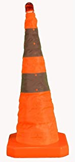 """Cortina Safety Products 03-500-80 Collapsible Cone with LED Light, 28"""" Reflective"""
