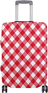 Red Christmas Stripes Diagonal Travel Luggage Protector Case Suitcase Protector For Man/&Woman Fits 18-32 Inch Luggage