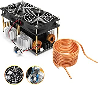 1800W ZVS Induction Heating Board Module Low Voltage High Frequency 12-48V Flyback Driver Heater with Tesla Coil and Cooling Fan