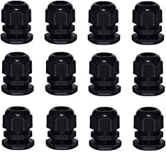 M20x1.5 Cable Glands ZKSM 10 Pcs IP68 Waterproof 6-12mm Cable Connectors Adjustable Plastic Cable Gland Joints with Gaskets