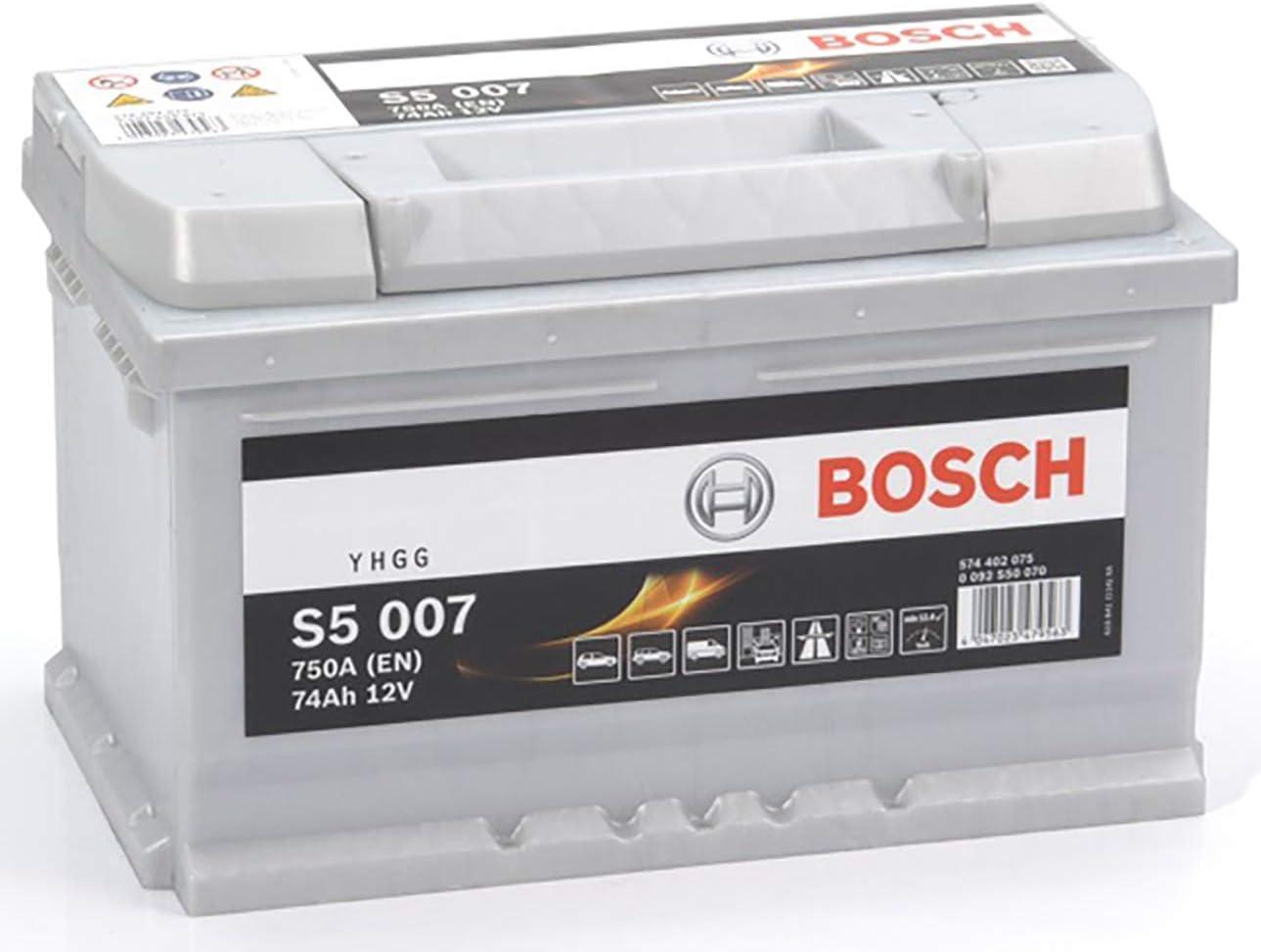 Bosch 0092S50070 S5007 Batería de Automóvil, 12V, 74A/h-750A