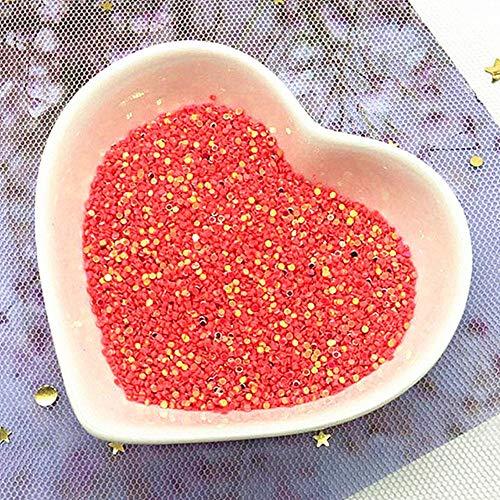 Sequin 1mm cirkel Dot Mix kleur PVC losse pailletten Party Craft Nail Arts bruiloft decoratie Confetti 10g, watermeloen rood gol
