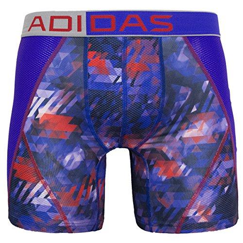 adidas Climacool Herren-Boxershorts, Netzstoff, Camouflage, Nachtblitz, Violett/Solarrot, Größe S