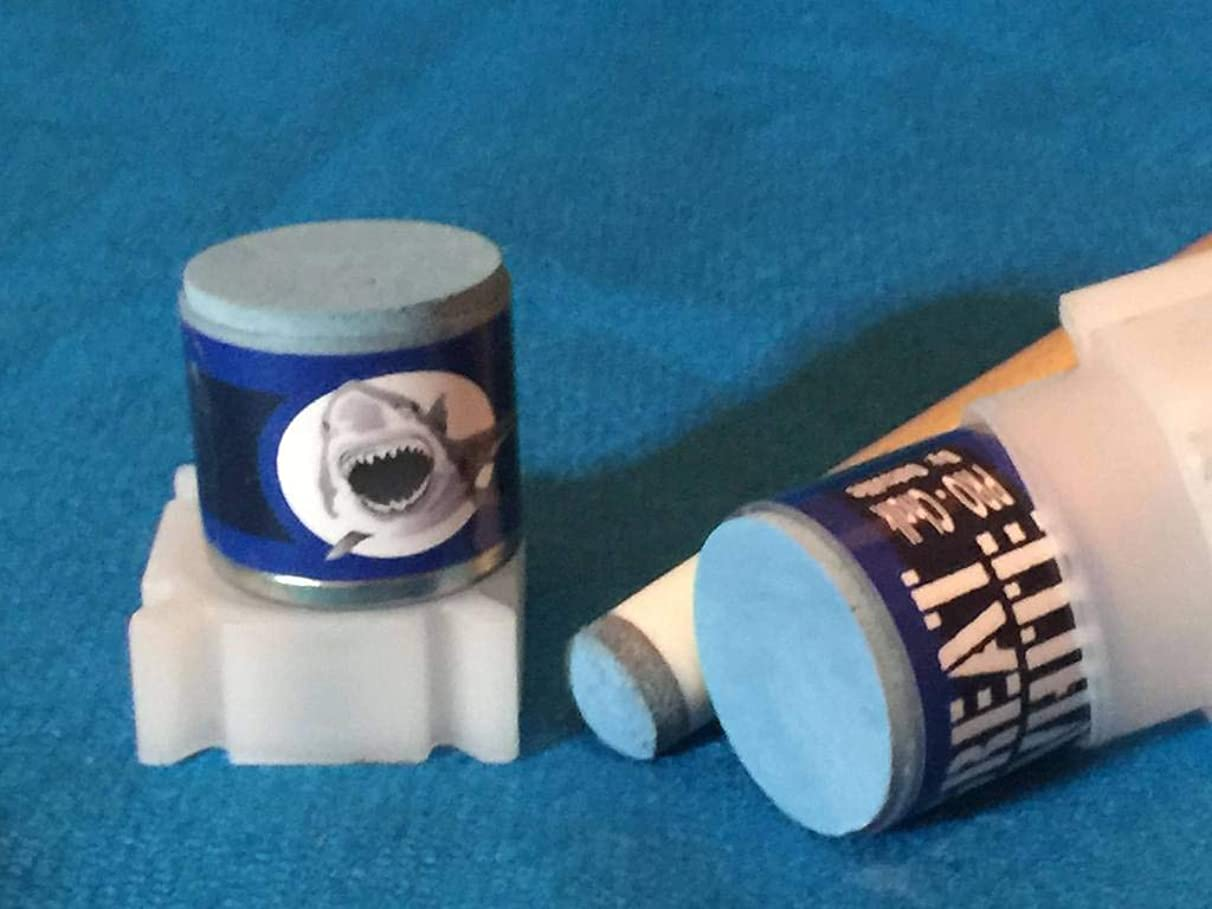Accu-Rack Great White Outsville Billiards Pool Cue Chalk Refill (2-Pack) - THRESHER Blue