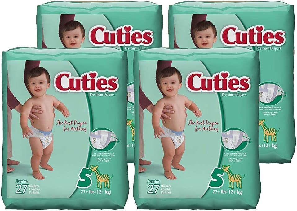 Cuties Baby Bombing new work Diapers Size mart 5 27 Count of 4 Pack
