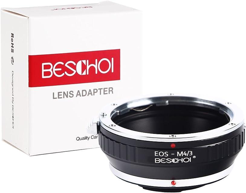 Beschoi EOS to Micro 4/3 Adaptador de Montaje de Lente para Canon EOS (EF/EF-S) de Lente a Sistema MFT M4/3 Cuerpo de cámara para Cámaras Olympus PEN y Panasonic Lumix