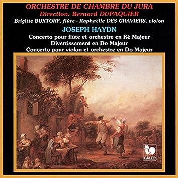 Franz Joseph Haydn: Flute Concerto in D Major, Hob. VII:1 - Divertimento in C Major, Hob. III:6 - Violin Concerto in C Major, Hob. VIIa:1