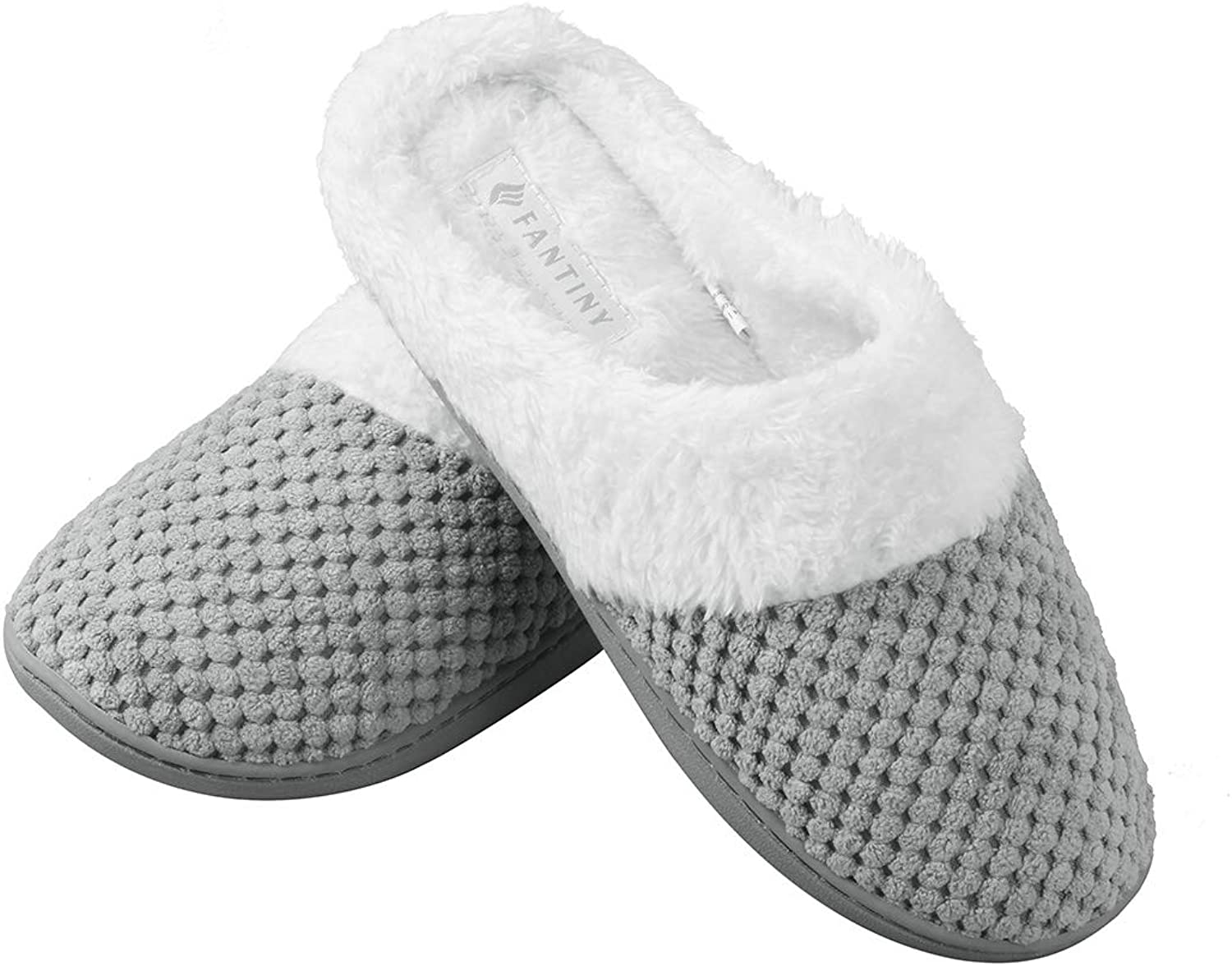 Joybery Women's Warm Winter Memory Foam Slippers Coral Fleece Lining Slip On Clog Scuff House shoes Indoor Outdoor Use