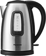 Panasonic NC-SK1BSD Stainless Steel Electric Kettle, 1.6L, 2200W