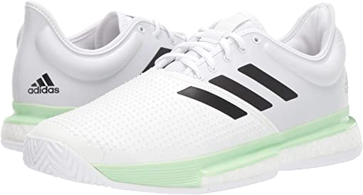 Footwear White/Core Black/Glow Green