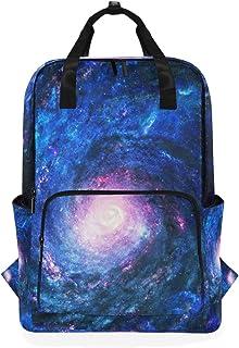 FAJRO Mochila Escolar con diseño de Galaxia y Estrellas