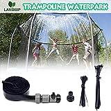 Landrip Trampoline Water Park Sprinkler Outdoor Trampoline Sprinklers Water Play Sprinklers Kids Fun