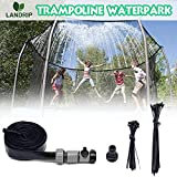 Landrip Trampolin Sprinkler, Outdoor Trampolin Wasserpark Sprinkler Sommer für Sommer Wasserspaß (12M)