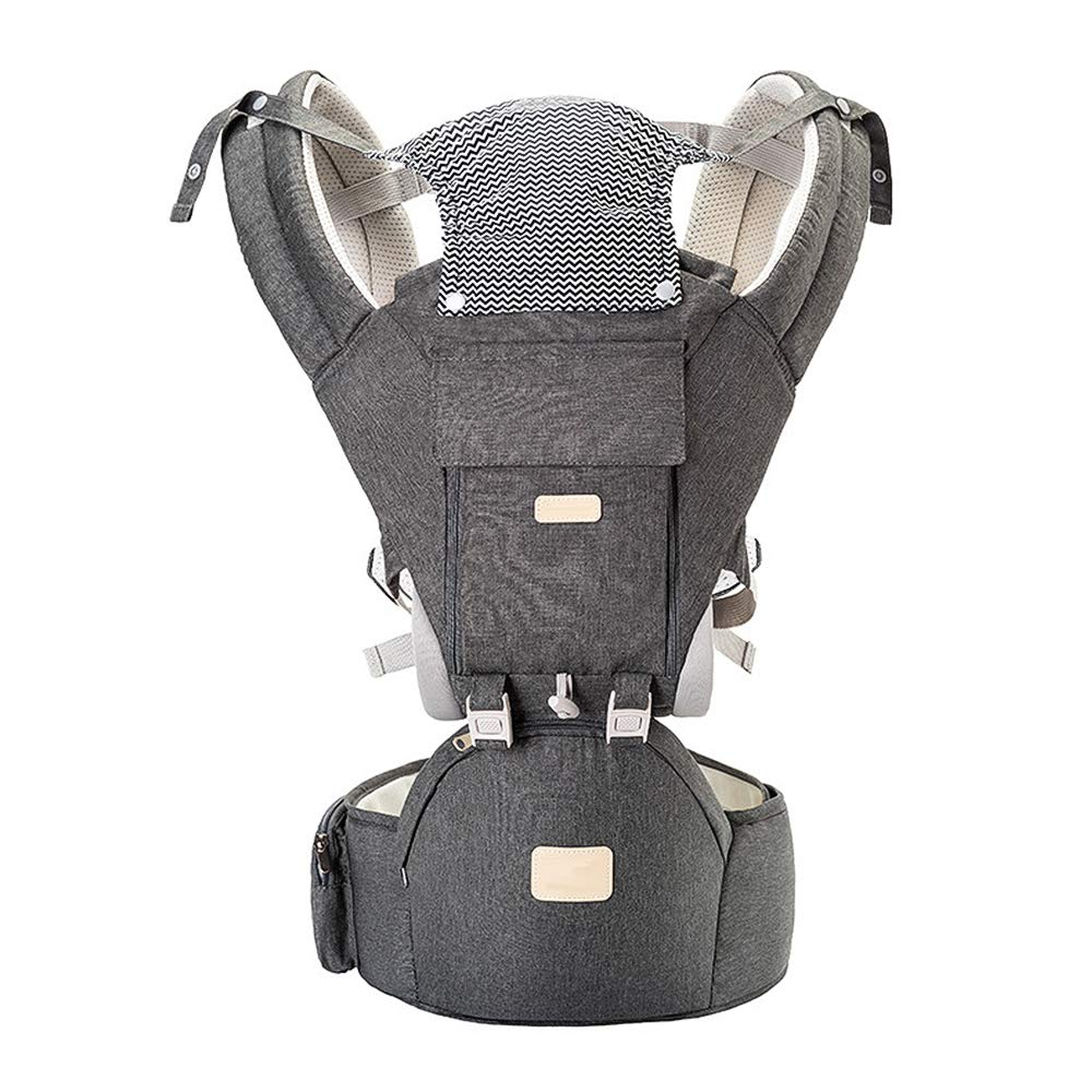 Baby Carrier Newborn to Toddler, Multifunctional 3-in-1 Infant Hiking Backpack Carrier for All Seasons, Baby Gifts, 11 Ergonomic Positions Baby Holder, Face-in and Face-Out and Back, Grey