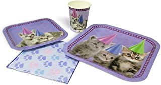 Blue Orchards Kitten Standard Party Packs (65+ Pieces for 16 Guests!), Kitten Party Supplies, Cat Birthday