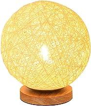 UKCOCO Sepak Takraw Tafellamp- Dimbare Led Nachtlampje/Sepak Takraw Lamp Met Usb Lader En Houten Base/Houten Decoratieve B...