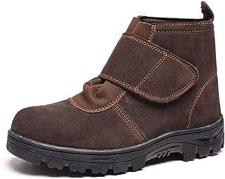 ZYFXZ Hommes Suede Soudeur Chaussures de sécurité, Protection en Acier Toe Caps, Anti-crevaison Chaussures de Travail, Ant...
