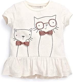 ZHTEAP New Lovely 1-6years Baby Girls Summer Short Sleeve T-Shirts Clothing Children Kids Cartoon Cotton Tees