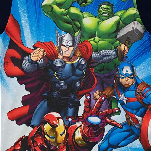 Marvel Pigiama a Maniche Corta per Ragazzi Avengers Blu 9-10 Anni