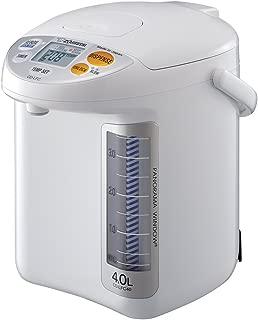 Zojirushi CD-LFC40 Panorama Window Micom Water Boiler and Warmer, 135 oz/4.0 L, White (Renewed)