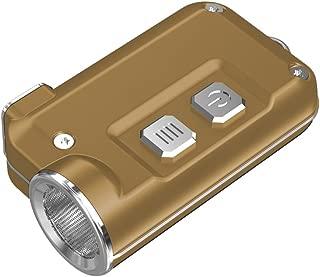 NITECORE TINI-Gold Nitecore TINI 380 Lumens Mini Metallic USB Rechargable Keychain Light - Gold, Youth-Unisex, Gold